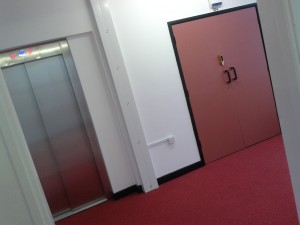 New lift and carpeted landings